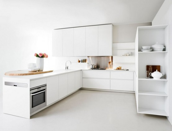 Minimalist White Kitchen For Small Spaces