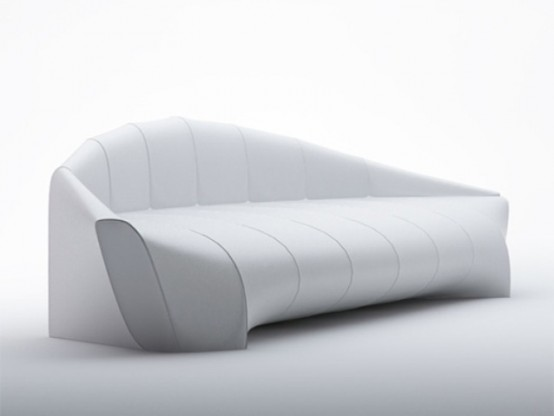 Merveilleux Minimalist Zeppelin Sofa Inspired By Iconic Airships