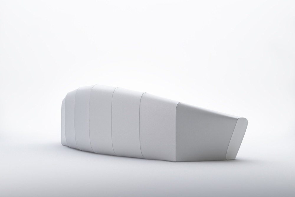 Minimalist zeppelin sofa inspired by iconic airships for Minimalist sofa