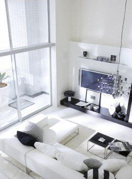 Interior Design Living Room on Minimalist Modern Japan Condo   Digsdigs
