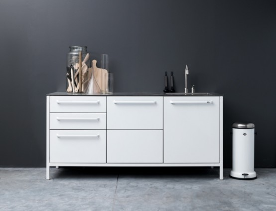 Minimalist Stainless Steel Kitchens by Vipp