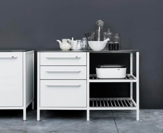 Minimlist Stainless Steel Kitchen
