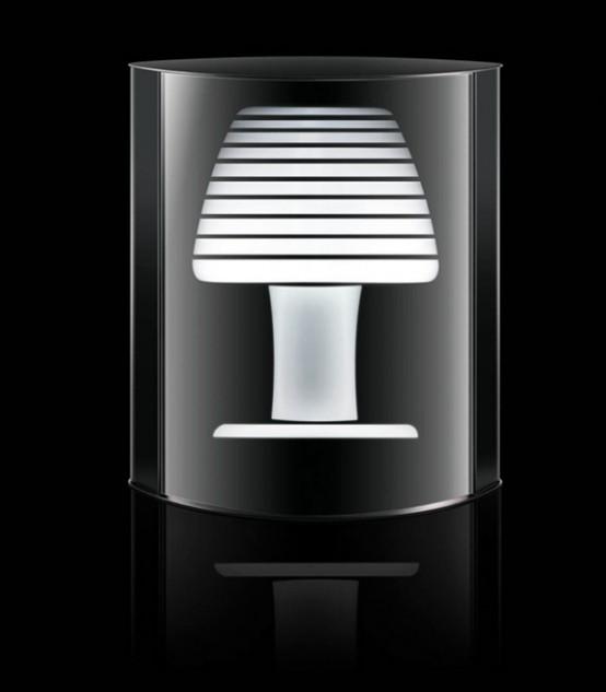 Mirage – Florescent Tabletop Lamp by Tronconi