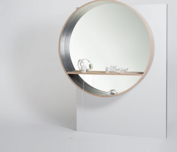 Mirror Console With A Shelf For Revamping Faces