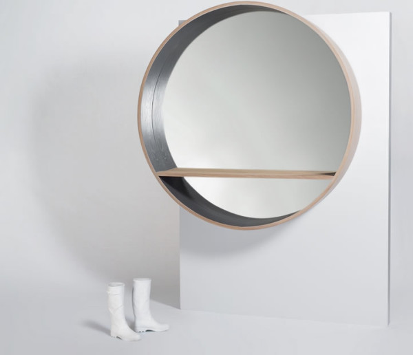 Mirror Console With A Shelf For Revamping Space