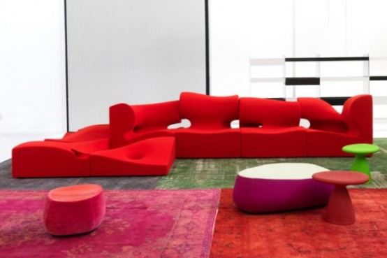 Misfits Sofa System Expressing Perpetual Movement