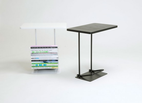 Modern Mobile Side Table To Store Magazines