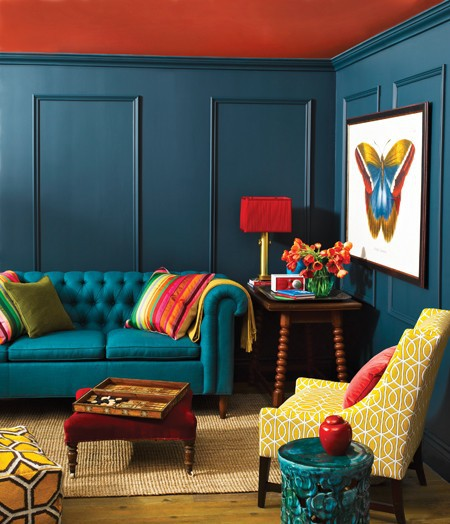 Superb Moddy Colorful Living Room Part 20