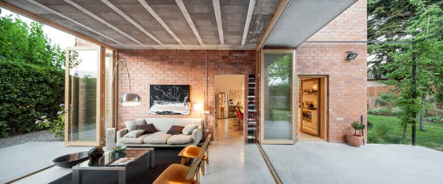 Modern Brick Home That Merges With The Garden