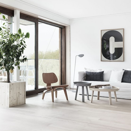 Modenr Calm Looking Interior In Neutral Colors Modern Interiors With Predominant Minimalism Design