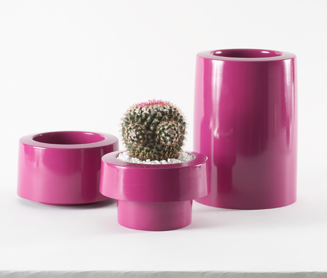 Modern and Colorful Aluminum Planters with Powder Coated Finish