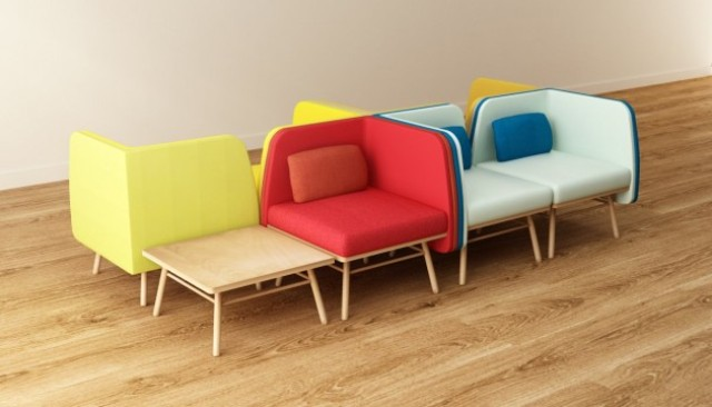 Modern And Colorful Bi Silla Chair By Silvia Ceñal