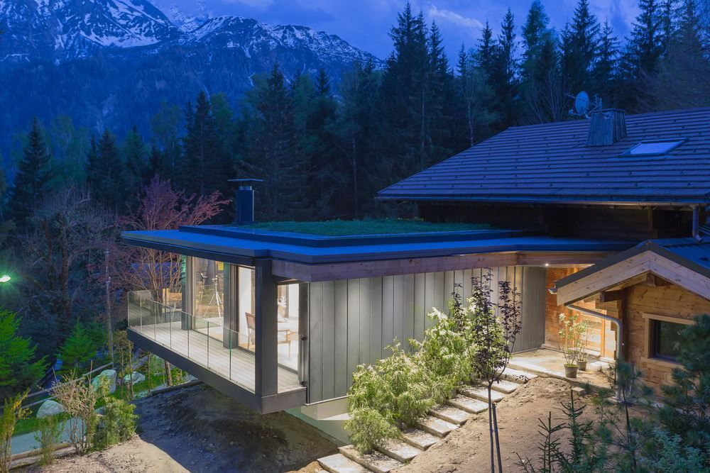Picture Of modern and elegant french chalet with a new extension  1