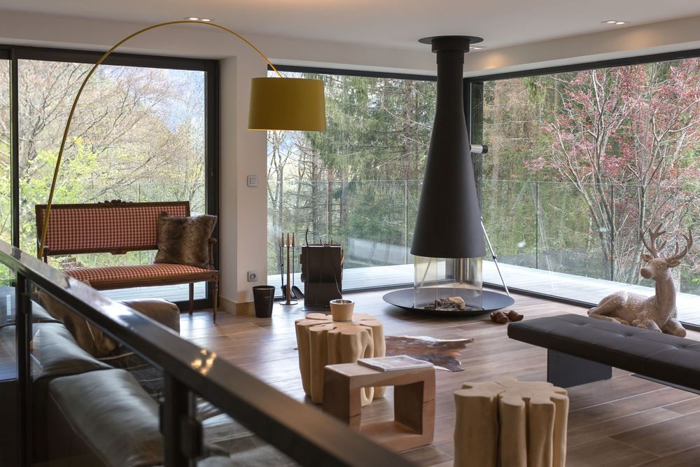 Picture Of modern and elegant french chalet with a new extension  6