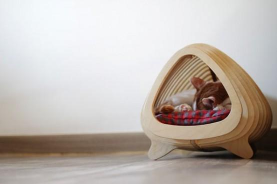 Modern Cat House modern and ergonomic fish born cat house - digsdigs
