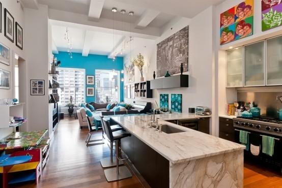 Modern And Fresh New York Loft Design