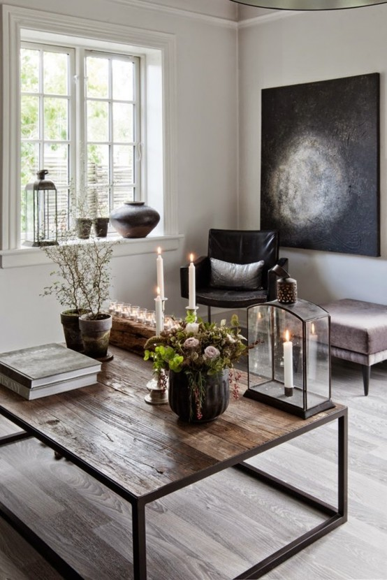 Modern And Industrial Danish Home With Dramatic Touches - DigsDigs