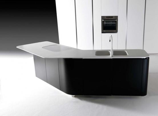 Modern And Luxurious Levoluzione And Sinuosa Kitchen Designs
