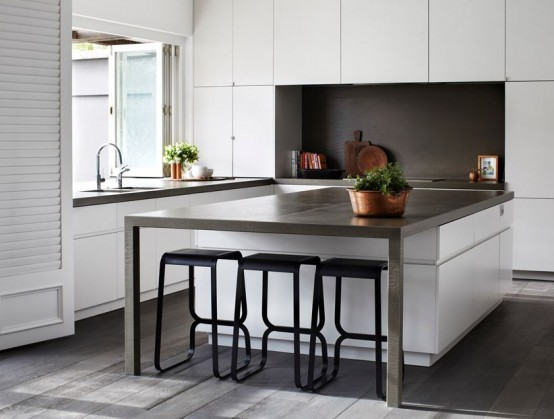 Trend Modern And Smart Kitchen Island Seating Options