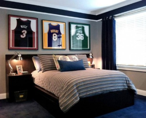 ... teenage boy's room. Most of the guys love sports so it's the theme that  works for every ...