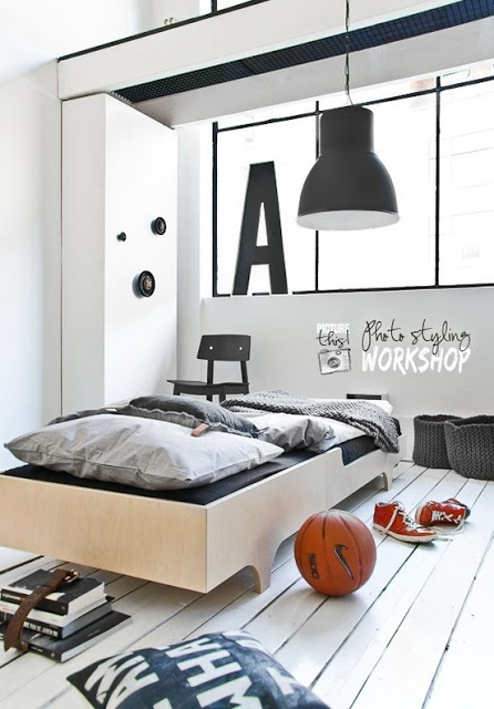 Loft-like room designs are perfect for teenage boys cuz they looks modern and stylish. Every kid in this age wants to be like that.