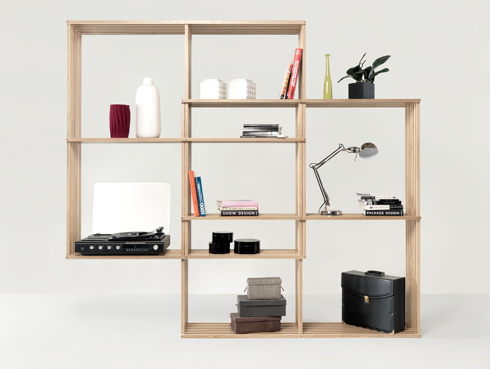 Modern And Versatile X2 Bookshelf From Solid Oak