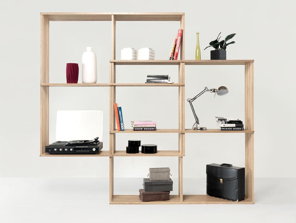 Modern And Versatile X2 Bookshelf From Soild Oak