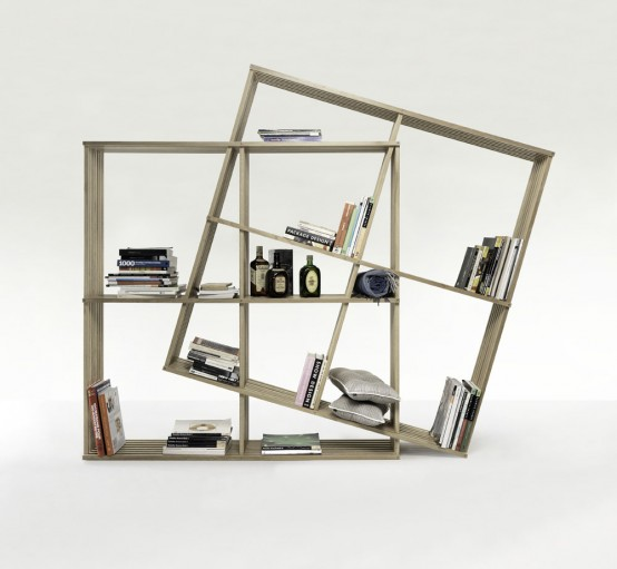 Modern And Versatile X2 Bookshelf From Soild Oak