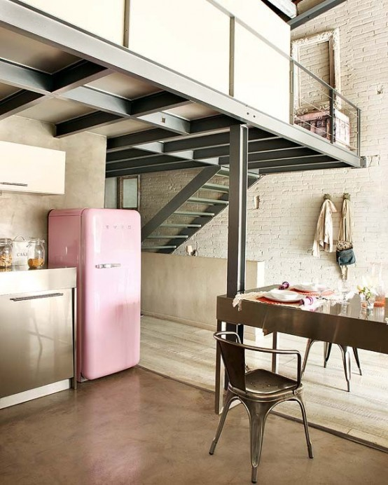 Modern And Vintage Interior Design In Shades Of Pink - DigsDigs
