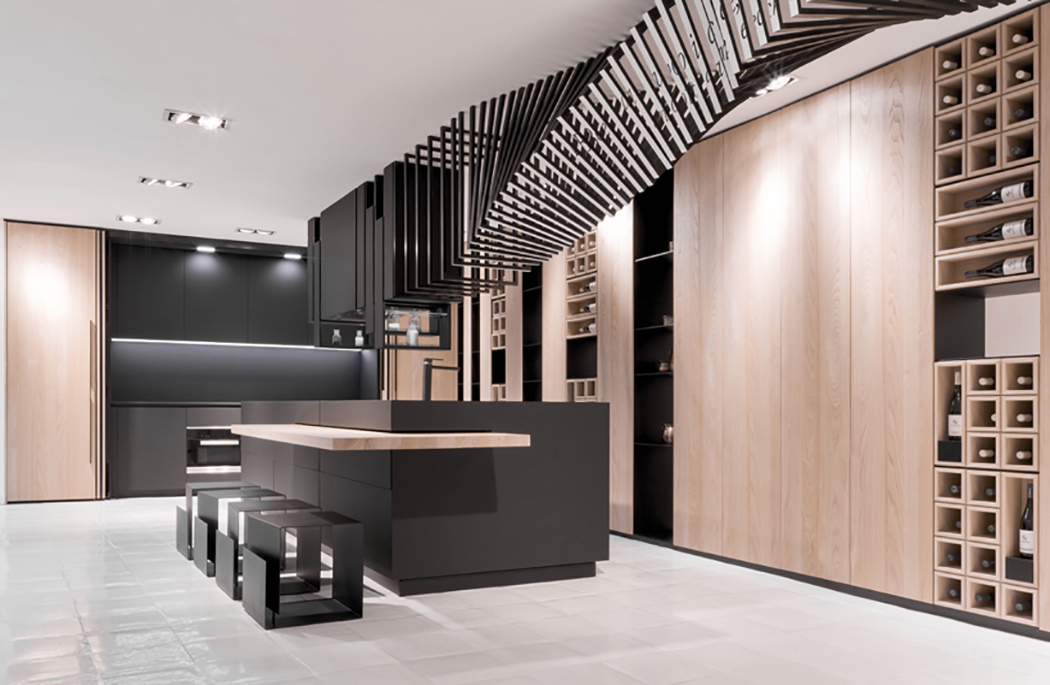 Modern And Sculptural Cut Kitchen With Personality