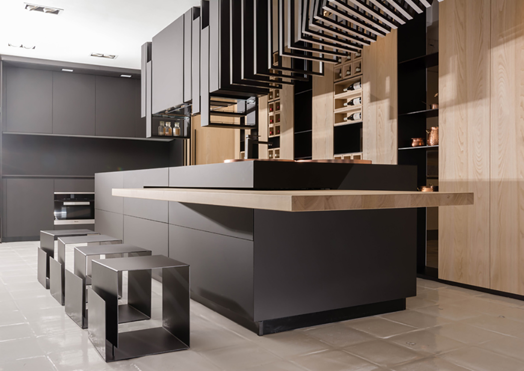 Modern and sculptural cut kitchen with personality digsdigs for Modern personalities