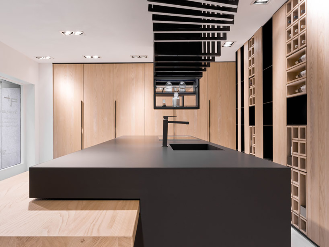 Modern Andsculptural Cut Kitchen With Pesonality