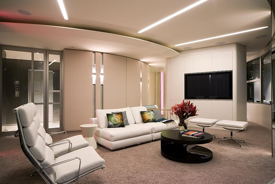 Modern Apartment Interior Design in Warm And Glamour Style - DigsDigs