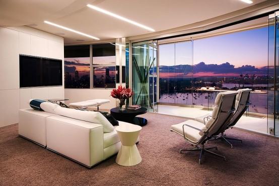 Modern Apartment Warm Interior