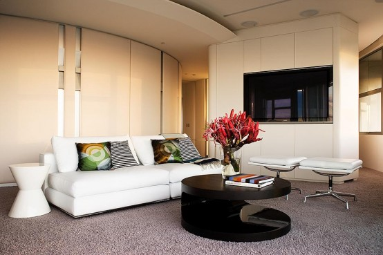 Modern Apartment Warm Interior