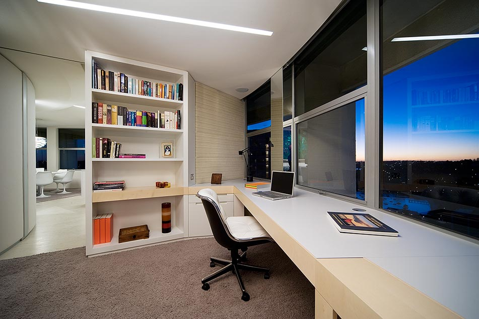 Top 70 Best Modern Home Office Design Ideas: Modern Apartment Interior Design In Warm And Glamour Style