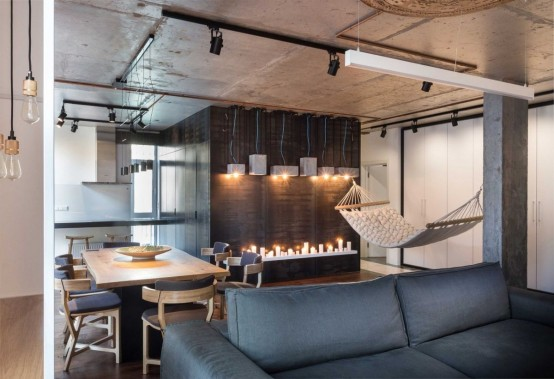 Modern Apartment With Industrial Features And Relaxing Ambience