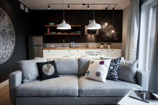 Modern Apartment With Industrial Touches And Mandalas