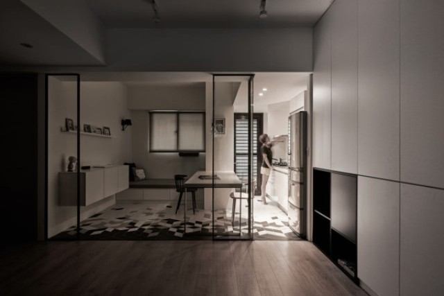 Picture Of modern apartment with scandi and mid century modern touches  8