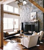 Modern Barn Fireplace