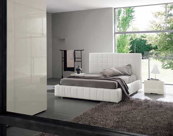 White Bed with Storage – Scacco by Dall'Agnese
