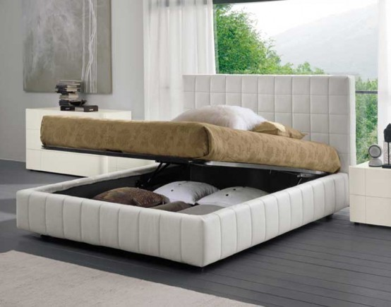 Modern Bed With Storage Scacco By Dall Agnese