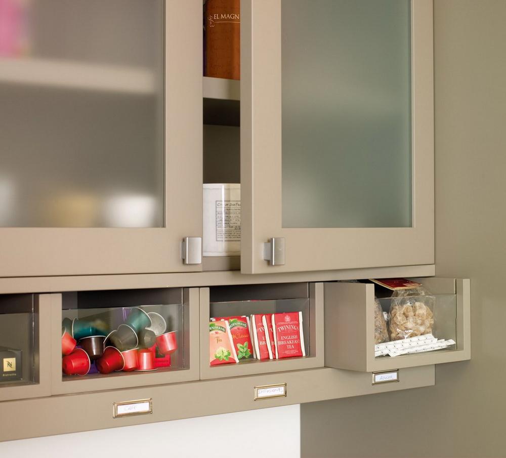 Modern Beige Kitchen Design With Red Walls  DigsDigs