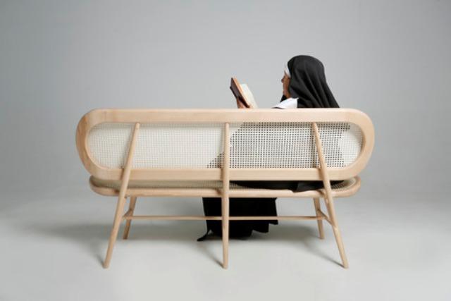 Modern Bernardes Bench With A Religious Connotation