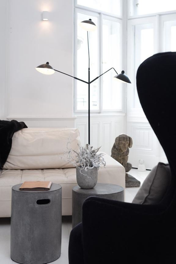 Modern Black And White Apartment With Art Nouveau Elements