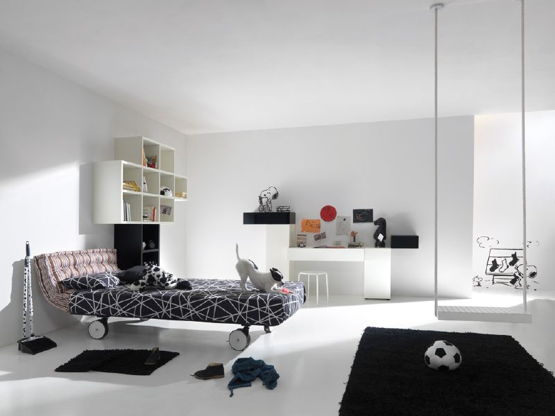 Modern Black And White Kids Room Design By Lago
