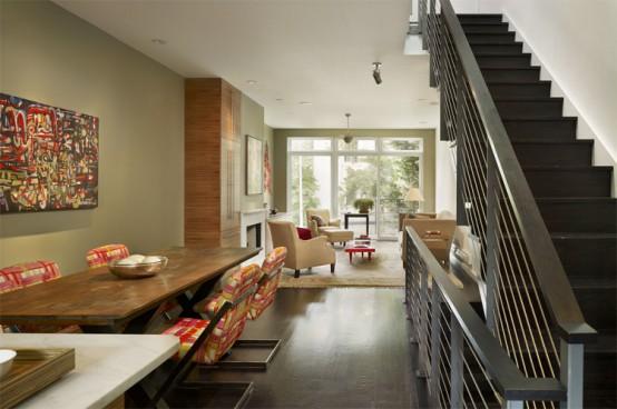 Modern Townhouse Design with Rooftop Garden by Brett Webber Architects