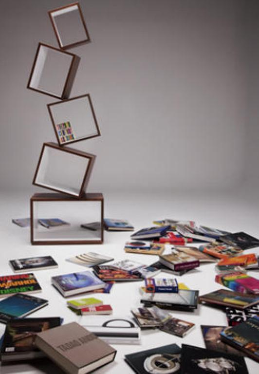 Modern Bookcase That Is Falling Down