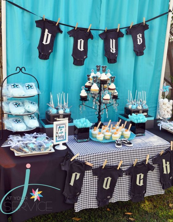 Modern Boy Baby Shower Theme