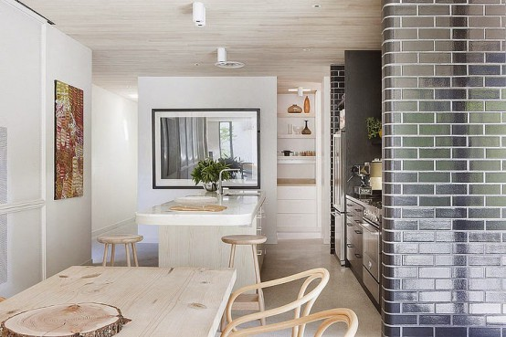 Modern Brick House With Neutral Interiors And Lots Of Light